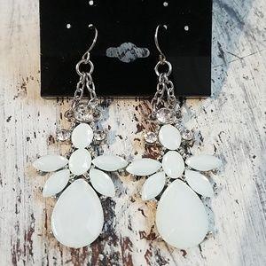 Jewelry - Light Mint Opalescent Chandelier Earrings